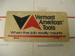 Booster Front License Plate Vermont American Tools When The Job Really Counts
