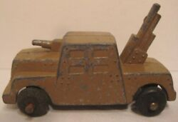 Old Barclay Military Armoured Car For Toy Soldiers