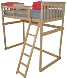 Versaloft Amish-made Yellow Pine Twin Mission Loft Beds By Aandl Furniture Company