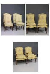 SET BAROQUE PIEDMONT WOOD NUT PERIOD '700  SET CHAIRS BAROQUE STYLE  CHAIRS