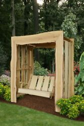 Aandl Furniture Appalachian Arbor With Swing - 2 Sizes And 4 Finishes