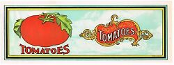 Old Crate Stock Label C1910 Typography Graphic Arts Seaford Delaware Tomatoes