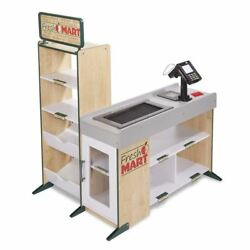 Melissa Doug Freestanding Wooden Fresh Mart Grocery Store Role Play Toy