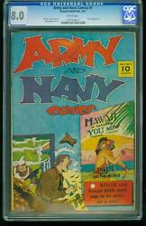 Army And Navy Comics 1- Cgc 8.0 Hitler Appearance- Southern States 1197194017