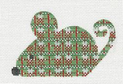 New Christmas Plaid Mouse Handpainted Needlepoint Canvas Ch Designs Danji