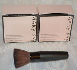 2 Mary Kay Mineral Powder Foundation BEIGE 2 with BONUS BRUSH New in Box