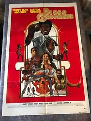 Disco Godfather 1979 Original 1 Sheet Movie Poster 27x41 F/vf Rudy Ray Moore