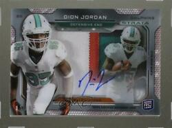 2013 Topps Strata Signature Relics Ruby /15 Dion Jordan Rpa Rookie Patch Auto