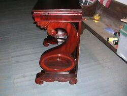 Great Antique Meeks Mahogany Pier Table Or Petticoat Mirror Near Mint Condition