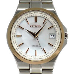 CITIZEN WATCH EXCEED CB1034-50A Eco-Drive Radio controlled White dial Titanium