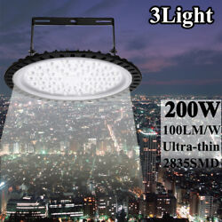 3X 200W LED High Bay Bright White Light Warehouse Industrial Football Field Lamp