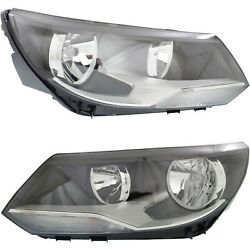 Headlight Set For 2012-2017 Volkswagen Tiguan Left And Right With Bulb 2pc