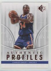 2008 09 SP Authentic Profiles Charles Oakley #AP 1 $1.23