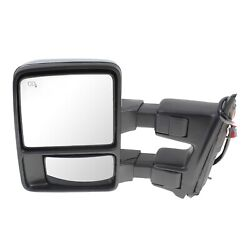 Tow Mirror For 2010 2016 Ford F-450 Super Duty Driver Side Power Fold Heated
