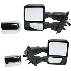 Tow Mirror Set For 2013 2014 Ford F150 Left And Right Side Power Fold Heated