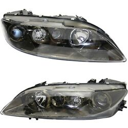 Headlight Set For 2003-2005 Mazda 6 Sport Type Left And Right With Fog Light 2pc