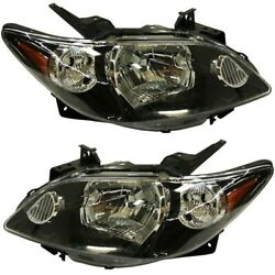 Headlight Set For 2004-2006 Mazda Mpv Es Lx Left And Right With Rocker Moldings
