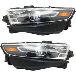 Headlight Set For 2014-2015 Ford Taurus Left And Right With Bulb 2pc