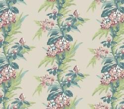 1804-116-02 - Aurora Floral Green Teal Coral 1838 Wallpaper