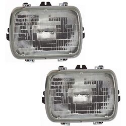 Headlight For 96-2017 Chevrolet Express 3500 Pair Driver And Passenger Side