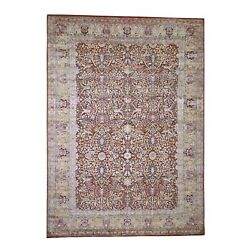 8and03910x12and0394 Silk With Textured Wool Oushak Design Hand-knotted Rug R44209