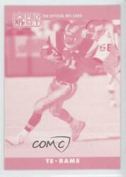 1990 Pro Set Printing Proofs #153 Willie Gault (Magenta Front Unknown Player)