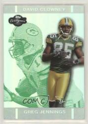 2007 Topps Co-signers Green Changing Faces Hyper Silver /75 Greg Jennings Rookie