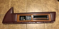 1989 90 Cadillac Fleetwood Passenger Front Upper Wood Trim And Pull Handle Only