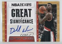 2014-15 NBA Hoops Great SIGnificance Dorell Wright #17 Auto