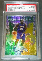 2012 Shaquille Oand039neal Panini Crusade Green Prizm Refractor /25 Psa 10 Pop 1