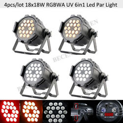 4pcs 18x18w 6in1 Super Wash Led Par Light Powercon Flicker Free And Rdm Support