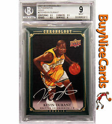 2007-08 Kevin Durant Upper Deck Chronology Gold RC Rookie Auto 10 BGS 9  10