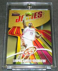 LEBRON JAMES 2003 FINEST GOLD REFRACTOR #1725 ROOKIE  ONLY 25 MADE!!
