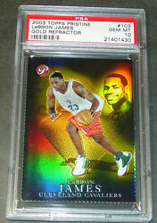 2003 LEBRON JAMES #103 TOPPS PRISTINE GOLD ROOKIE REFRACTOR 6899 PSA 10 POP 6