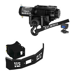 2500 Lb Kfi Stealth Winch Mount And Grill Combo- Polaris Sportsman Ace 2014-2015