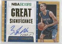 2014-15 NBA Hoops Great SIGnificance Gold10 #82 Zach LaVine Auto Rookie Card