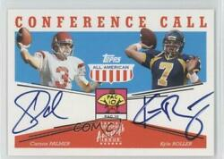 2003 All American Conference Call /100 Kyle Boller Carson Palmer Rookie Auto