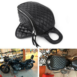 For Harley XL883 Motorcycle Magnetic Diamond PU Leather Oil Fuel Tank Travel Bag