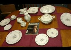 Vintage And Rare Antique Fine Bohemian China Dinnerware Set Made In Czechoslovakia