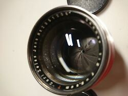 Carl Zeiss Jena 8.5cm F2 Sonnar T For Leica Sm Couple In Great Condition