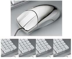 Mouse A 3 Keys For Computer Pc Fixed Or Portable Laminated Silver 925 15248