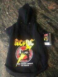 ACDC Pet dog Coat Hoodie For Those About To Rock FABDOG Small Medium Large