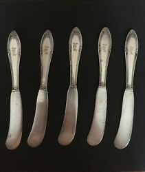 Andnbsp5 Gorham Butter Knives Stamped Gmco Ep Pat 1919 Silverplateandnbsp