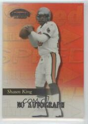 1999 Playoff Contenders Ssd Speed Red /100 Shaun King 178 Rookie