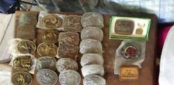 Hesston Belt Buckles 1975 Through 1995...24 Buckles In All See Extra Buckles