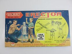 A.C. Gilbert Junior Engineers Erector Set No. 10026 Vintage Made In USA AC