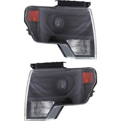 Hid Headlight Set For 2009-2014 Ford F-150 Driver And Passenger Side
