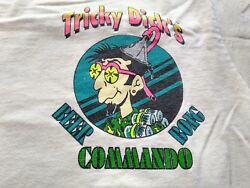 Vintage 90s Tricky Dick's T-shirt Size L Beer Bong Commando One Funnel...