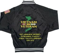 101st Airborne Division A Shau Valley Vietnamembroidered 2-sided Satin Jacket