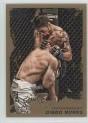 2011 Topps Ufc Moment Of Truth Gold Diego Nunes 127 Rookie